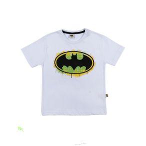 Camiseta Manga Curta Batman Infantil para Menino - Branco 10