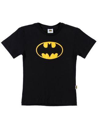 Camiseta Manga Curta Batman Infantil para Menino - Preto