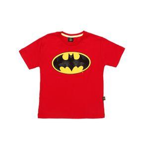 Camiseta Manga Curta Batman Infantil para Menino - Vermelho 10