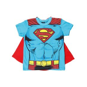 Camiseta Manga Curta Dc Infantil para Menino - Azul 8