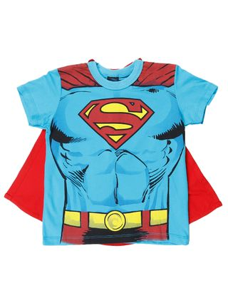Camiseta Manga Curta Dc Infantil para Menino - Azul