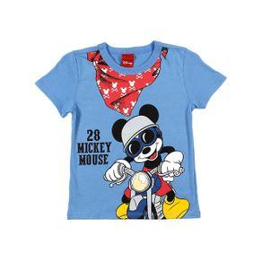 Camiseta Manga Curta Disney Infantil para Menino - Azul 2
