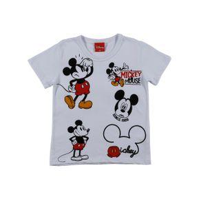 Camiseta Manga Curta Disney Infantil para Menino - Branco 8