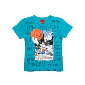 Camiseta Manga Curta Disney Infantil para Menino - Verde 1