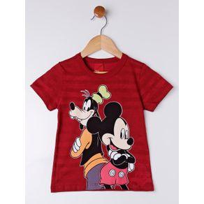 Camiseta Manga Curta Disney Infantil para Menino - Vermelho 2