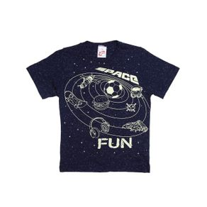 Camiseta Manga Curta Infantil para Menino - Azul 10