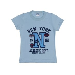 Camiseta Manga Curta Infantil para Menino - Azul 2