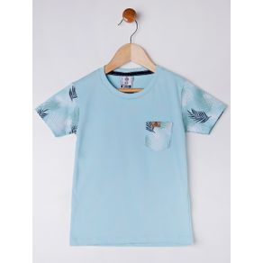 Camiseta Manga Curta Infantil para Menino - Azul 1