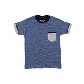 Camiseta Manga Curta Infantil para Menino - Azul 8