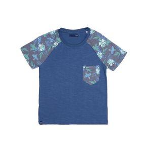 Camiseta Manga Curta Infantil para Menino - Azul 6