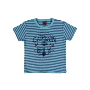 Camiseta Manga Curta Infantil para Menino - Azul Camiseta Manga Curta Infantil para Menino Azul 1