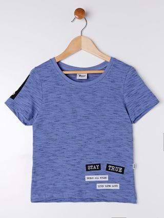 Camiseta Manga Curta Infantil para Menino - Azul