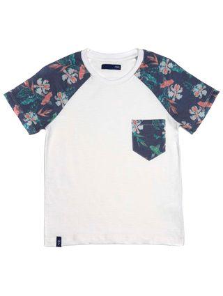 Camiseta Manga Curta Infantil para Menino - Bege