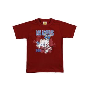 Camiseta Manga Curta Infantil para Menino - Bordô 2