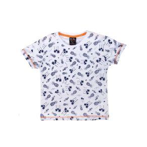 Camiseta Manga Curta Infantil para Menino - Branco 10