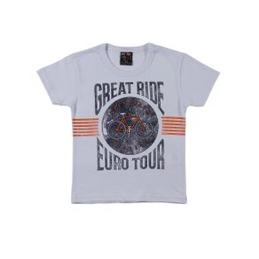Camiseta Manga Curta Infantil para Menino - Branco 1
