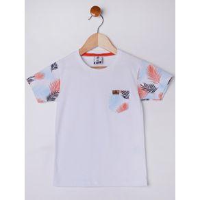 Camiseta Manga Curta Infantil para Menino - Branco 3
