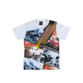 Camiseta Manga Curta Infantil para Menino - Branco 4