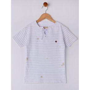 Camiseta Manga Curta Infantil para Menino - Branco 6