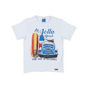 Camiseta Manga Curta Infantil para Menino - Branco 8