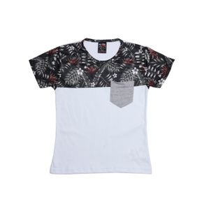 Camiseta Manga Curta Infantil para Menino - Branco/verde 6