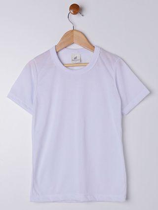 Camiseta Manga Curta Infantil para Menino - Branco