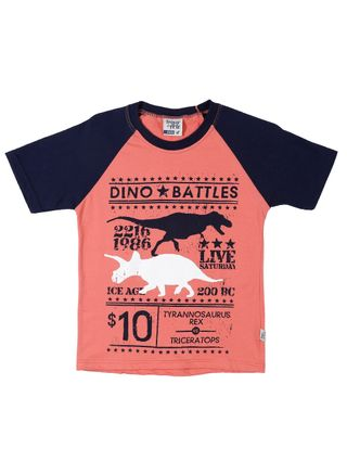 Camiseta Manga Curta Infantil para Menino - Coral