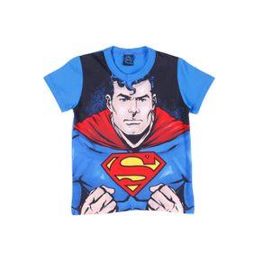 Camiseta Manga Curta Infantil para Menino Justice League Azul 10