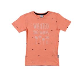 Camiseta Manga Curta Infantil para Menino - Laranja 2