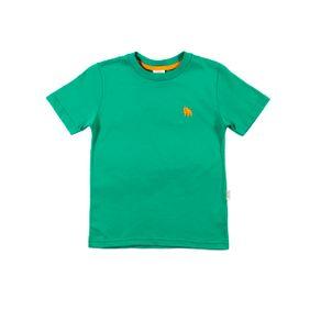 Camiseta Manga Curta Infantil para Menino - Verde 10