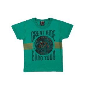 Camiseta Manga Curta Infantil para Menino - Verde 1