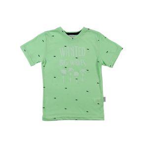 Camiseta Manga Curta Infantil para Menino - Verde 2