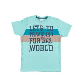 Camiseta Manga Curta Infantil para Menino - Verde 4
