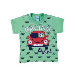Camiseta Manga Curta Infantil para Menino - Verde M