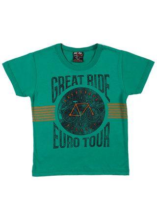 Camiseta Manga Curta Infantil para Menino - Verde