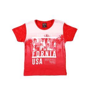 Camiseta Manga Curta Infantil para Menino - Vermelho 10