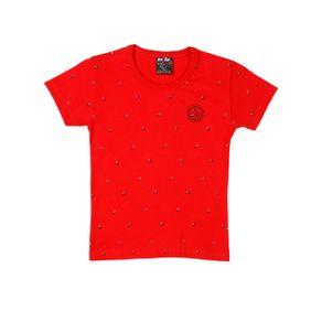 Camiseta Manga Curta Infantil para Menino - Vermelho 2