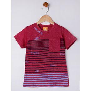 Camiseta Manga Curta Infantil para Menino - Vermelho 3