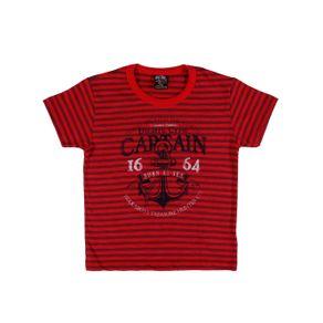 Camiseta Manga Curta Infantil para Menino - Vermelho Camiseta Manga Curta Infantil para Menino Vermelho 2