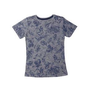 Camiseta Manga Curta Juvenil para Menino - Azul 10