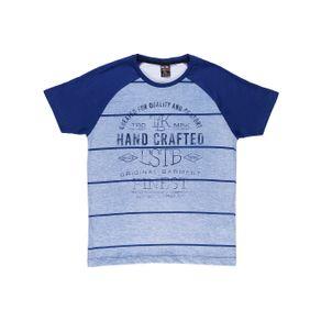 Camiseta Manga Curta Juvenil para Menino - Azul 12