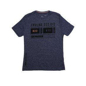 Camiseta Manga Curta Juvenil para Menino - Azul 14