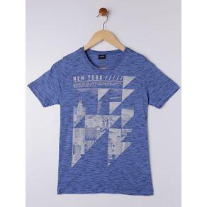 Camiseta Manga Curta Juvenil para Menino - Azul 18