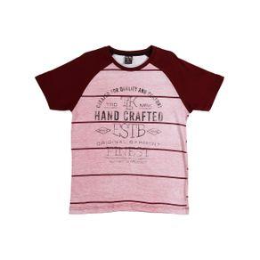 Camiseta Manga Curta Juvenil para Menino - Bordô 18
