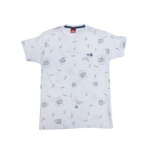 Camiseta Manga Curta Juvenil para Menino - Branco 10