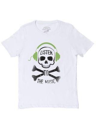 Camiseta Manga Curta Juvenil para Menino - Branco