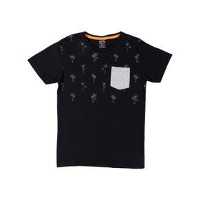 Camiseta Manga Curta Juvenil para Menino - Preto 14