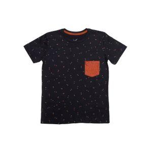 Camiseta Manga Curta Juvenil para Menino - Preto 16