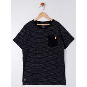 Camiseta Manga Curta Juvenil para Menino - Preto 18