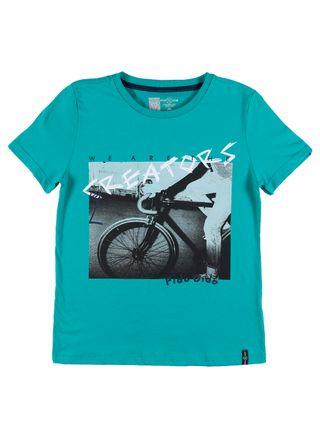 Camiseta Manga Curta Juvenil para Menino - Verde